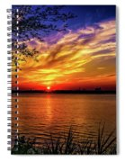 Colors Of Sunset Spiral Notebook