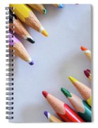 Colors. Old Pencils Spiral Notebook
