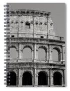 Colosseum Or Coliseum Black And White Spiral Notebook