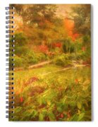 Colour Explosion In The Japanese Gardens Spiral Notebook