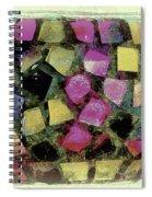 Coloured Glass Bowl Spiral Notebook