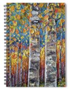 Colourful Autumn Aspen Trees By Lena Owens @olena Art Spiral Notebook