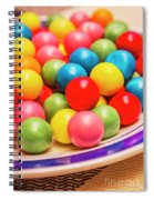 Colourful Bubblegum Candy Balls Spiral Notebook