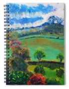 Colourful English Devon Landscape - Early Evening In The Valley Spiral Notebook