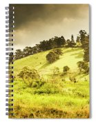 Colourful Fields And Farmyards Spiral Notebook