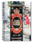 Colourful Lamp Post With The City Of Westminster Coat Of Arms London Spiral Notebook