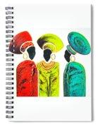 Colourful Trio - Original Artwork Spiral Notebook