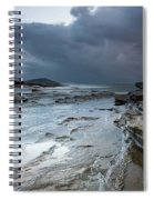 Colours Of A Storm - Seascape Spiral Notebook