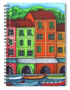 Colours Of Liguria Spiral Notebook