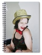 Columbia During A Rhps Performance Spiral Notebook