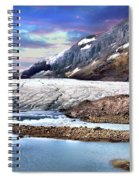 Columbia Ice Field And Athabaska Glacier Spiral Notebook
