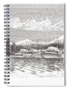 Columbia River Raft Up Spiral Notebook