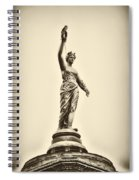 Columbia Statue Atop Memorial Hall Spiral Notebook