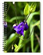 Columbine Flower 2 Spiral Notebook