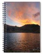 Columbine Lake Sunset - Weminuche Wilderness - Colorado Spiral Notebook