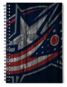 Columbus Blue Jackets Wood Fence Spiral Notebook