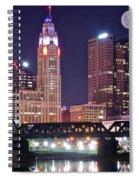 Columbus By Moonlight Spiral Notebook