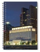 Columbus Night Panorama Spiral Notebook