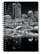 Columbus Ohio Black And White Spiral Notebook