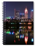 Columbus Ohio Reflecting In The Scioto River Spiral Notebook