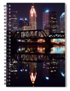 Columbus Ohio Reflecting On The River Spiral Notebook