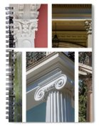 Columns Of New Orleans Collage 2 Spiral Notebook