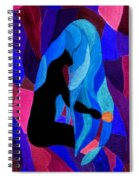 Combing The Waves Dark Spiral Notebook