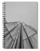 Comcast Center Inside Corner - Philadelphia Gritty Black And Whi Spiral Notebook