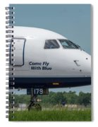 Come Fly With Blue Spiral Notebook