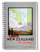 Come To New Zealand Vintage Travel Poster Spiral Notebook