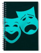 Comedy N Tragedy Aquamarine Spiral Notebook