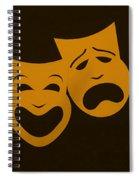 Comedy N Tragedy Black Orange Spiral Notebook