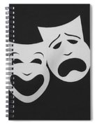 Comedy N Tragedy Black White Spiral Notebook