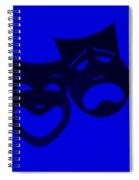 Comedy N Tragedy Blue Spiral Notebook