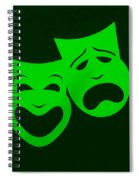 Comedy N Tragedy Green Spiral Notebook