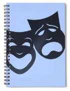 Comedy N Tragedy Neg Cyan Spiral Notebook