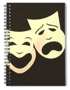 Comedy N Tragedy Neg Sepia 1 Spiral Notebook