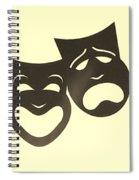 Comedy N Tragedy Neg Sepia Spiral Notebook