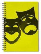 Comedy N Tragedy Neg Yellow Spiral Notebook