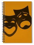 Comedy N Tragedy Orange Spiral Notebook
