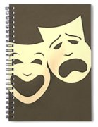 Comedy N Tragedy Sepia Spiral Notebook