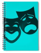 Comedy N Tragedy Turquoise Spiral Notebook