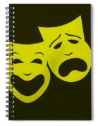 Comedy N Tragedy Yellow Spiral Notebook