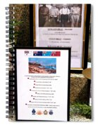 Commemorations Anzac Cove Spiral Notebook