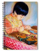 Commission Portraits Your Child Spiral Notebook