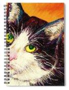 Commission Your Pets Portrait By Artist Carole Spandau Bfa Ecole Des Beaux Arts  Spiral Notebook