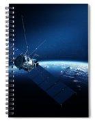 Communications Satellite Orbiting Earth Spiral Notebook