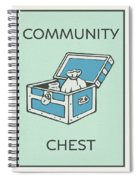 Community Chest Vintage Monopoly Board Game Theme Card Spiral Notebook