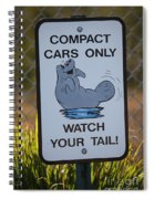 Compact Cars Only Sign Spiral Notebook