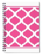 Compact Marrakesh With Border In French Pink Spiral Notebook